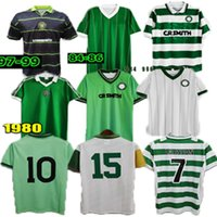 2006 2008 1980 Celtic Retro Soccer Jerseys 1991 1998 1998 Camisas Larsson Vintage Sutton 1995 1997 Kits de Futebol Topo
