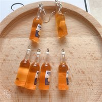Designer Earrings Luxury Jewelry 10pcs pack Beer Bottle Resin Earring Charms for Rarring Keychain Necklace Pendant Jewlery Findings Phone Ch