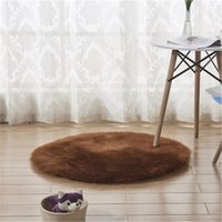 Carpets Round Carpet Imitation Australian Sheepskin Wool Cushion Living Room Coffee Table Mats Children's Blanket Bedroom Yoga