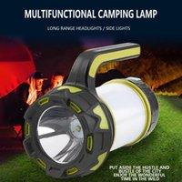 Lanternes portables Light Light Long-S Searchlight, Camping d'urgence rechargeable à LED avec lumière latérale, lanterne