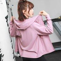 Giacche sportive da donna Cappotto Yoga Slim Tops traspirante in esecuzione allenamento fitness Donne Sportswear Abbigliamento rapido Abbigliamento da allenamento