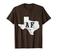 Texas AF Haritası AF Yerel Texan Pride T Gömlek Erkekler Kadınlar Hediye