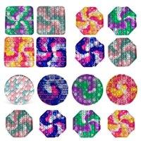 Multicolor Fidge Toy Toy Sensosy Push Bubble Board игра Сенсорная игрушка Тревожный стресс Редиверс Детские взрослые аутизм Особые потребности