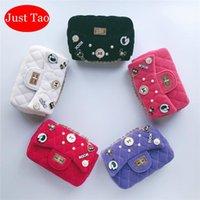 Sadece Tao! Girsl Küçük DIY Marka Crossbody Çanta Kızlar Mini Pamuk Çanta Bebek Çocuk Moda Omuz Toddlers Güzel Çanta JT045