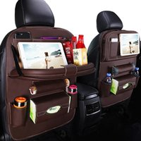 Car Organizer Seat Back Storage Bag Automobile Leather Organizers Dining Table Stowing Tidying In SUV Interior Accessories