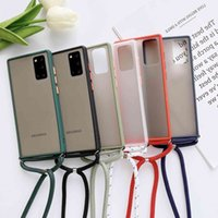 Strap Cord Chain Necklace Lanyard Mobile Phone Case For Galaxy A51 A71 A81 A91 A70 A21 A01 A10S A20S A20E S20 S10 A30S