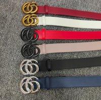 Mężczyźni Projektantów Paski Moda Prawdziwej Skóry Kobiet Mężczyzna List Double G Buckle Belt Cinturones de Diseño Mujeres Szerokość 3,8 cm 6 Kolory Skórki z pudełkiem