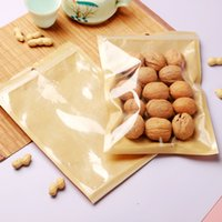6 Size Clear Plastic Self seal Kraft Paper Bag Pouches Transparent Zipper Package Bags For Snack Candy Sugar Storage LX4004