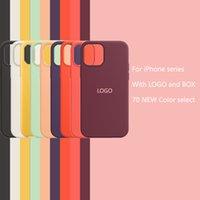 For iPhone 11 12 Pro Max XS XR 7 8 Plus Luxury Designer Defender Phone Cases Officrial Original Silicone Antifouling Case With logo