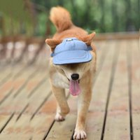 Pet Sunshade Cap Dogs Hat Outdoor Dog Baseball Canvas Small Sunscreen Accessories Apparel