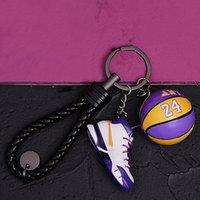 2021 3D Sportschuhe Schlüsselanhänger Niedliche Basketballschlüssel Kette Auto Schlüssel Tasche Anhänger No.24 Basketball Anhänger Fans Souvenir Geschenk