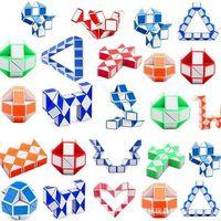 DHL Mini Magic Cube Intelligence Toys Snake Forma Juguete juego Cubos 3D Puzzle Twist Puzzles Regalo Inteligencias aleatorias Supertoop Regalos