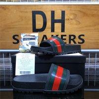 Top Qualität Männer Frauen Gummi Slipper Designer Sandalen Schuhe Sommer Strand Outdoor Cool Hausschuhe Mode Wide Dame Haushalt Rutsche Flache Flip Flops mit Box