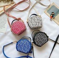 Mode Einzelner Schulter Handtaschen Mädchen Hohe Qualität Messenger Bags Koreanische Buchstaben Drucken Kleine Runde Paket Designer Crossbody Bag für Mädchen