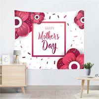 100 * 150см настенный гобелен Счастливый день матери напечатанный квадратный йога коврик для птичьего пляжа полотенце шаль пейзаж спальни украшения AHD5653