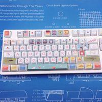 Dye Fetish 104 KeyCaps PBT Sublimation Tastiera meccanica Keycap Profilo di ciliegio Mouse Combos