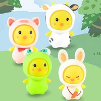 Cartoon Cute Pet Animal Frog Rabbit Toy Undressing and Dressing Vent Decompression Pinch Squeeze Toys Gift Squishy Stress-Toy