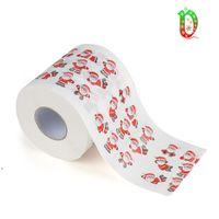 Neşeli Noel Tuvalet Kağıdı Yaratıcı Baskı Desen Serisi Rulo Kağıtların Moda Komik Yenilik Yenilik Hediye Çevre Dostu Taşınabilir DWE8596