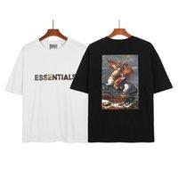 2021 Essentials T-shirt Freizeit Designer Kurzarm T-Stück doppelseitig gedruckte Buchstaben Patten Trends Angst vor Gott Nebel Tshirt Mens Womens
