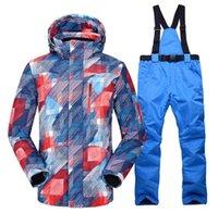 Skiing Jackets Ski Suit Men Winter Outdoor Windproof Waterproof Thermal Male Snow Pants Sets And Snowboarding Jacket