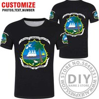 Liberia Bandiera Nazionale T-shirt, Liberia T-shirt popolare, moda stile etnico Sport casual Harajuku hip hop t shirt top vestiti x0602