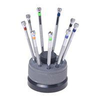 Kit mit 9 Schraubendreher Lame Reserve Base für Uhren WatchMaker Tools Reparatur-Kits