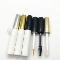 Depolama Şişeleri Kavanoz 5 ml Beyaz Maskara Tüp Muhteşem Dudak Parlatıcısı Kaplar Boş Kozmetik Doldurulabilir Eyeliner Fırça Ambalaj 25 adet / grup
