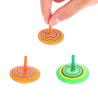 gyro T wooden rainbow top decompression toy Favor for children rotating colorful gyros kindergarten opening activity gifts for RRD7727