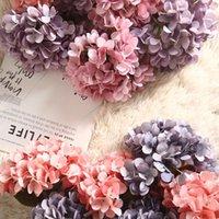 Decorative Flowers & Wreaths Hydrangea Artificial Single Wedding Bouquet Fabric Fake Flower Wall Wreath Accessories Silk For DIY Home Decor