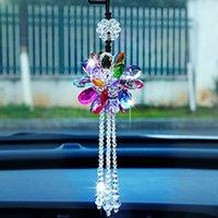 Samochód Wiszące ozdoby Auto Piękne kryształowe wiszące wisiorek widok z tyłu lusterko dekoracji samochodów stylizacji akcesoria