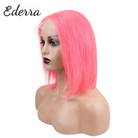 Lace Wigs Short Wig Human Hair Bob Brazilian Straight Front Wig13x4 Frontal Wig150% Density Pink