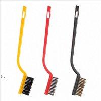 3 adet / takım Tel Fırça Seti Temizleme Fırça Aracı Metal Pirinç Naylon Temizleme Parlatma Pas Gaz Sobası Temizleme Fırçası Aracı OWF10401