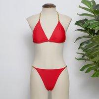 Hot Swimsuit Bikini Set Mulheres One-Peça Preto Vermelho Duas Peça Swimwear Transporte rápido Ternos de banho Sexy