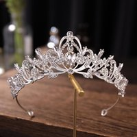 Hair Clips & Barrettes Silver Color Crystal Tiaras And Crowns Wedding Accessories Bridal Crown Tiara Diadem Women Jewelry Headpiece