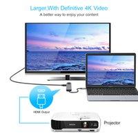 Multi USB 3.0 hub type C adapter to HDMI Gigabit Ethernet Rj45 Lan for Macbook Pro Air 13 15 iPad Thunderbolt USB PD