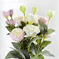 Подарок 3 головы Platycodon Grandiflorum яркие искусственные цветы растение дома и садовые украшения 70см декоративные венки