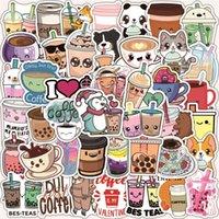 10/50 / 100 adet Sevimli Karikatür Inci Süt Çay Çıkartmalar Paketi Kız Için Kız Boba Kabarcık Teas Çıkartması Sticker DIY Bagaj Dizüstü Gitar Araba