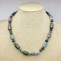 Naute Stone Bead Women Girl Party Jewerly 정말 색상 염색 유리 호랑이 눈 redjaspers 녹색 Jadeds 초커