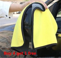 Cleaning Cloths 2 4 Pcs lot Thick Absorbent Microfiber Cloth Double Face Towel Washing Drying Glass Metal Rag Car Wash Clean Tool