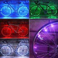 Luzes de bicicleta 20 LED Bicicleta Mountain Night Riding Roda de Aço RIM RIM Speak Tubo de Tubo de Aviso Reflexivo Reflexivo Segurança ao ar livre