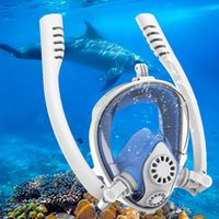 Máscaras de mergulho Mulheres Máscara Máscara Full Face Snorkeling Subaquático Anti Nevoeiro Para Natação Spearfishing Dive Homens