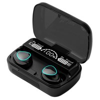 M10 Wireless Earbuds Bluetooth 5.0 TWS Waterproof In-Ear Touch control Headset HIFI Stereo Sports 2000Mah earphones With Microphone Charging Box