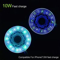 Quality 10W Fast Qi Wireless Chargers for iPhone 12 11 Pro Xs Max X Xr Charging Pad Universal Phone Charger with Retail Package