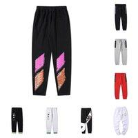 2021 Mens Designers calças marca esportes pant top qualidade moda lado listra stripe sweatpants corredores casual streetwear calças roupas