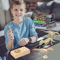 Simulación 3D Dinosaury Puzzle Toys DIY Funny Skeleton Modelo de madera Educativa Inteligente Inteligente Inteligente Para Niños Regalos H1009