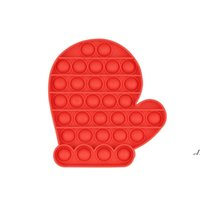 ABD stok partisi favordecomprespresyon oyuncaklar itme parmak fidget duyusal kabarcık dekompresyon gagang noel şapka eldiven çocuk anksiyete stres relieever masaüstü