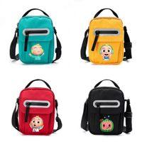 US Stock Cartoon Crossbody Shoulder Bags Kids Gifts Cocomelon JJ Fanny Pack Plush Avocado Doll Pendant Key Holder Travel Sport Tote