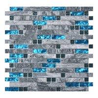 Art3d 5-delige 3D Muurstickers Zelfklevende Crystal Glass Peel and Stick Backsplash Tegels voor Keuken Badkamer, Wallpapers (30x30cm)