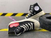 Fashion Man SkateBoarding Womens Skate Women Mens Chuckes des Garcons Play Chuck 1970 Cavans Sneakers للرجال Tayler Shulcanized Black Shoe