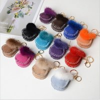 Real Shearling Ovelha Pele Kids Girls Brinquedo Keyring Bag Charm Telefone Pingente